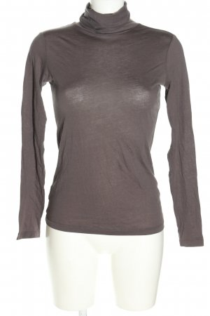 Stefanel Turtleneck Shirt light grey flecked casual look