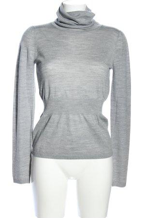 Stefanel Turtleneck Shirt light grey flecked casual look