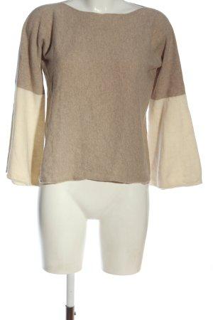 Stefanel Maglione girocollo color carne-crema puntinato stile casual