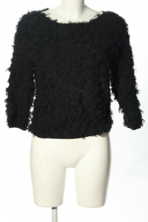 Stefanel Knitted Sweater black allover print casual look