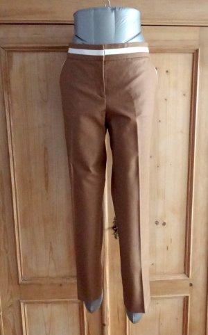 Stefanel Pleated Trousers camel cotton