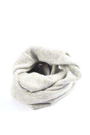 Stefanel Bufanda tubo gris claro-crema moteado look casual
