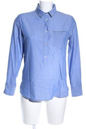 Stefanel Schlupf-Bluse blau Casual-Look