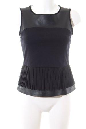 Stefanel Schößchentop schwarz Elegant