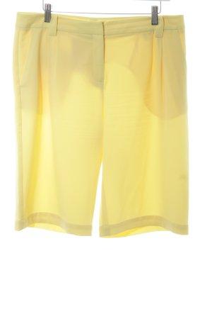 Stefanel Shorts gelb-blassgelb Logo-Applikation
