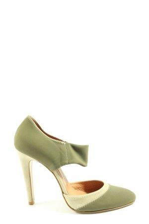 Stefanel Spitz-Pumps grün Casual-Look