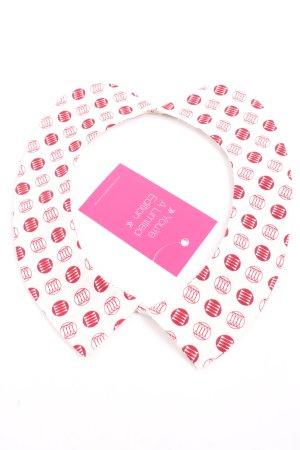 Stefanel Cols de blouses blanc-rouge imprimé allover style décontracté