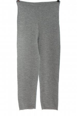 Stefanel Pantalón tipo suéter gris claro moteado look casual