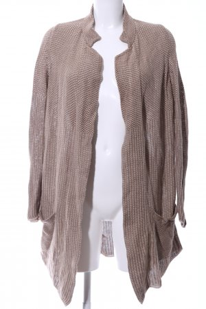 Stefanel Strick Cardigan braun-creme meliert Casual-Look