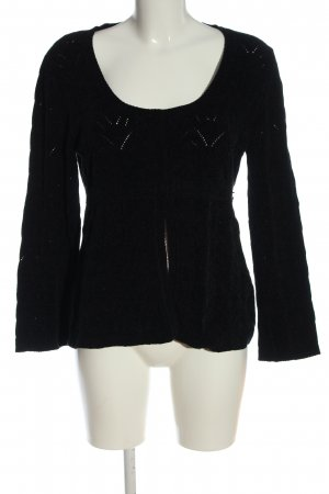 Stefanel Knitted Cardigan black casual look