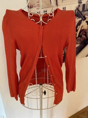 Stefanel Strick-Cardigan, orange, Wolle