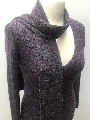 Stefanel Strick-Pullover Gr. M mit schmalem Schal