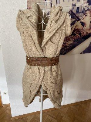Stefanel Cardigan tricotés blanc cassé