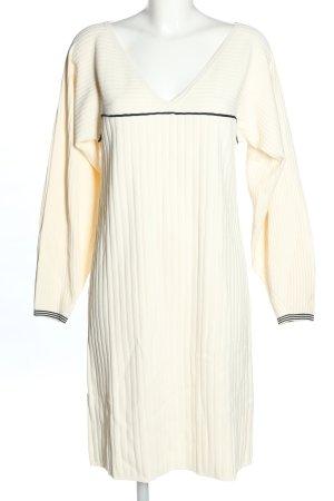 Stefanel Sukienka z dzianiny kremowy W stylu casual