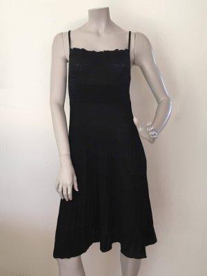 Stefanel Strickkleid Baumwolle schwarz ähnlich Plissee ital. L (=dt. M/38) NEU OHNE ETIKETT