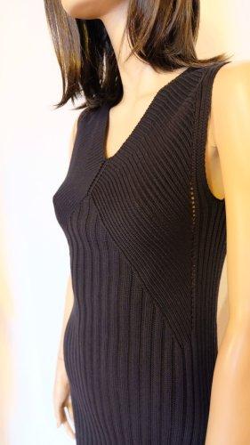 Stefanel Strickkleid schwarz M Baumwolle