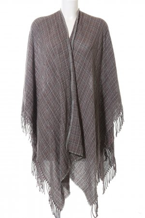 Stefanel Strickponcho braun Allover-Druck Casual-Look