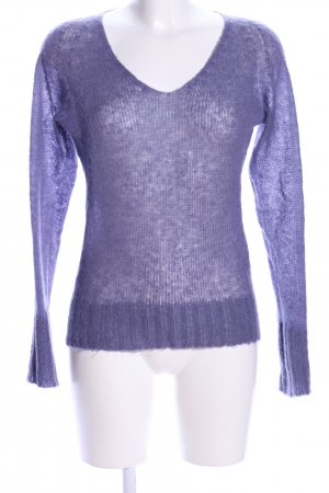 Stefanel Strickpullover lila Casual-Look