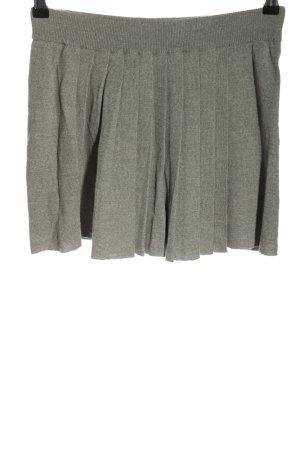 Stefanel Gebreide rok lichtgrijs gestippeld casual uitstraling