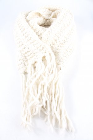 Stefanel Knitted Scarf cream casual look