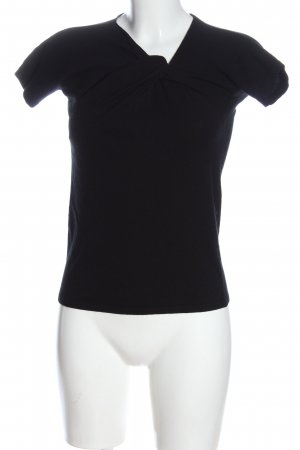 Stefanel Strickshirt schwarz Casual-Look