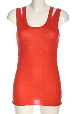 Stefanel Top lavorato a maglia rosso stile casual