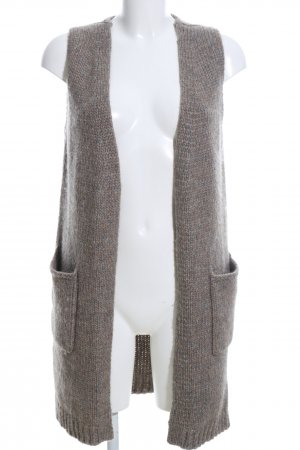 Stefanel Smanicato lavorato a maglia marrone puntinato stile casual
