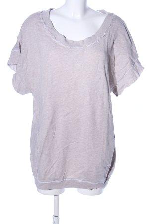 Stefanel Sweatshirt pink-hellgrau meliert Casual-Look