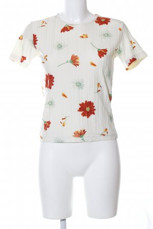 Stefanel T-Shirt Blumenmuster Casual-Look