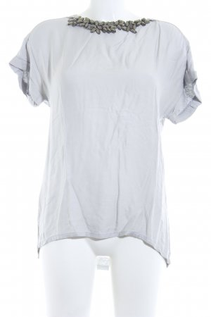 Stefanel T-Shirt hellgrau Casual-Look