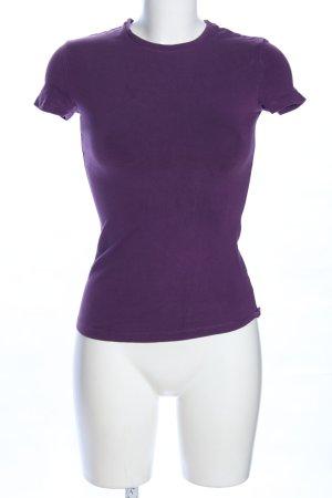 Stefanel T-Shirt lila Casual-Look