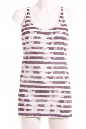 Stefanel Tanktop grijs-lila-wit casual uitstraling