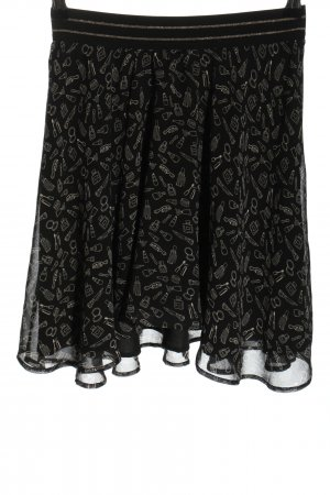 Stefanel Circle Skirt black-white allover print casual look