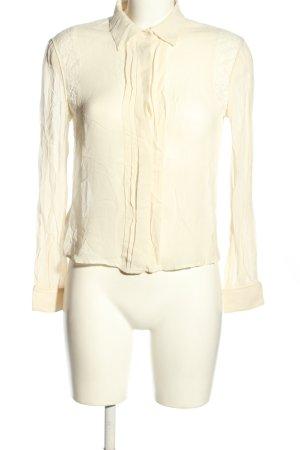 Stefanel Transparenz-Bluse creme Casual-Look