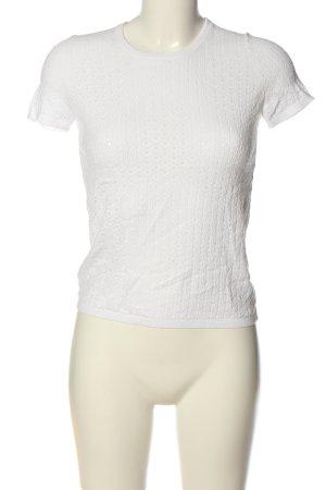 Stefanel Transparenz-Bluse weiß Casual-Look