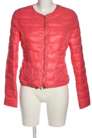 Stefanel Übergangsjacke pink Steppmuster Casual-Look