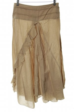 Stefanel Flounce Skirt sand brown country style