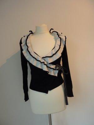 Stefanel Cardigan black-white viscose