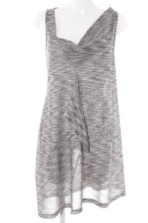 Stefanel Wickelkleid silberfarben-schwarz extravaganter Stil