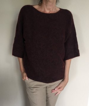 Stefanel Wolle Mix Pullover Gr.S in Aubergine Farbe
