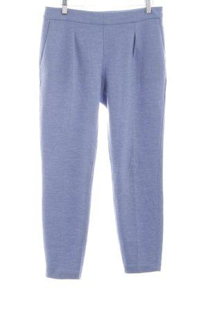 Stefanel Pantalone di lana blu puntinato stile casual