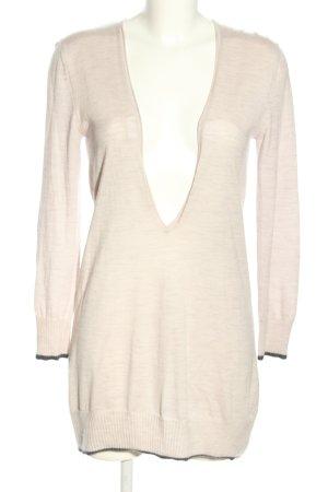 Stefanel Robe en laine blanc cassé style décontracté