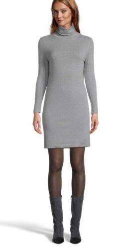 Stefanel Wollkleid Kleid Wolle grau Gr.XL neu mit Etikett