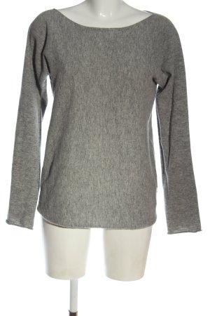 Stefanel Wool Sweater light grey flecked casual look