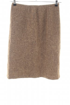 Stefanel Wool Skirt natural white-nude flecked business style