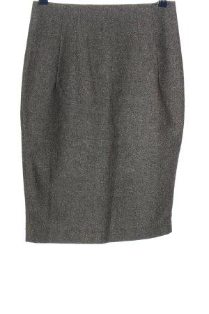 Stefanel Wollen rok lichtgrijs gestippeld zakelijke stijl