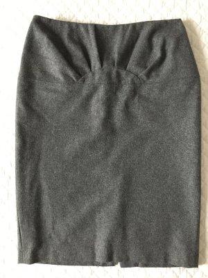 Stefanel Falda de tubo gris-gris oscuro Lana