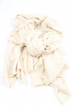 Stefanel Bufanda de lana blanco puro elegante
