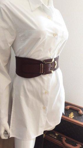 Cinturón de cadera coñac-color oro