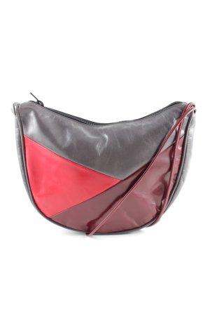 Umhängetasche rot-schwarz Casual-Look